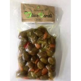 green spicy sicilian olives from buccheri 300 g Agrestis
