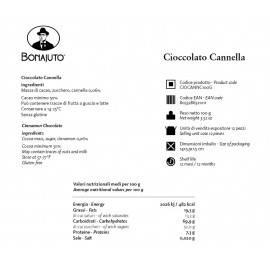 cinnamon flavoured chocolate 100 g Bonajuto