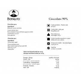 pure chocolate 90% 50 g - Bonajuto Bonajuto
