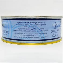 anchovy fillets in tin can 500 g Campisi Conserve