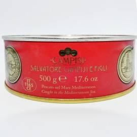 tonno del mediterraneo in olio d'oliva latta 500 g Campisi Conserve