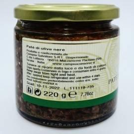 black olive pate' 220 g Campisi Conserve