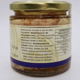 amberjack ventresca(belly) in olive oil 220 g Campisi Conserve