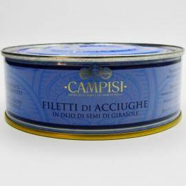 anchovy fillets with chilli pepper in tin 500 g Campisi Conserve