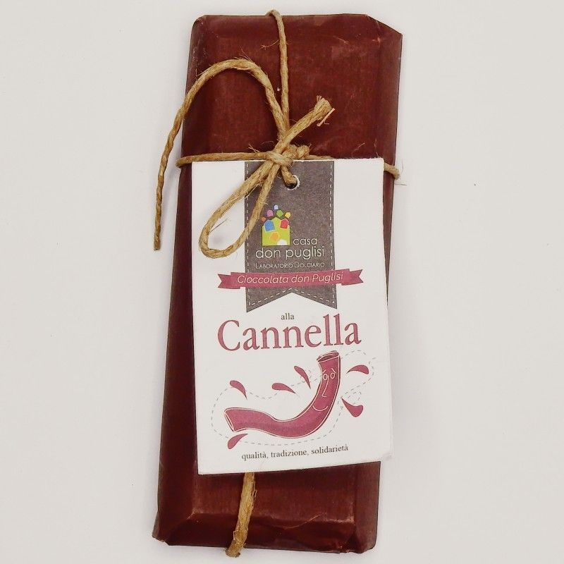 cinnamon flavoured chocolate 100 g Casa Don Puglisi